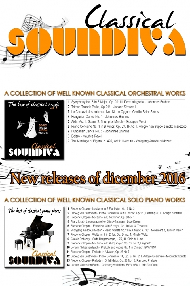 Some of our releases of classical music - SOUNDIVA (Music  & Services)